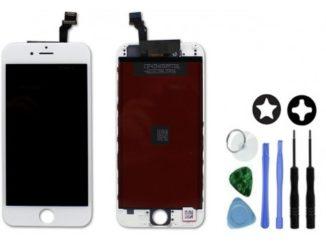 Ecran lcd + vitre tactile d'iphone sur châssis